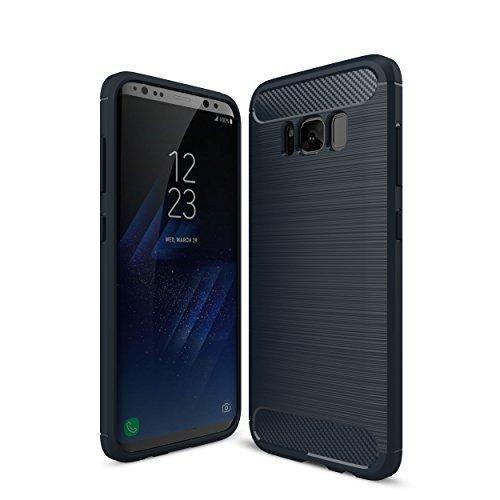 Otium Galaxy S8 Case with Resilient Shock Absorption - Carbon Fiber textures - Fine