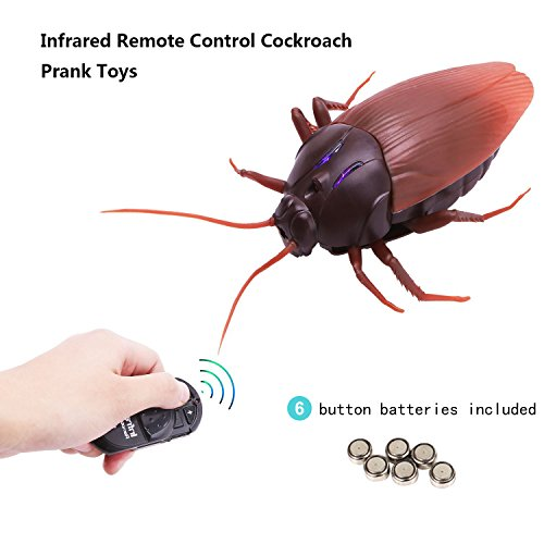 Infrared Ray Cockroach Toys, Mock Inductive Fake Simulation Cockroach Toy Prank Toys Insects Joke Scary Trick Bugs For Party Halloween Xmas Gift For Kids Adults Friends Cat Dog (Halloween Party Gifts For Adults)