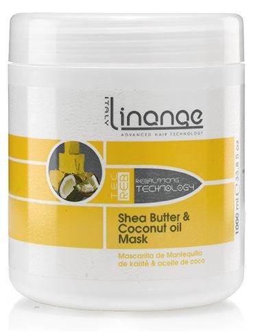 Linange Shea Butter and Coconut Oil Mask 1000ml; Softening, Strengthening, Moisturizing, Nourishing, Hair Care Product…
