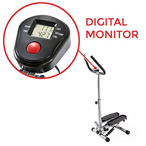 Sunny Health & Fitness NO. 059 Twist Stepper Step Machine w/Handle Bar and LCD Monitor (Renewed) by Sunny Health & Fitness (Image #3)