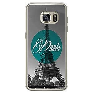 Loud Universe Samsung Galaxy S7 Edge Cities Paris Printed Transparent Edge Case - Grey