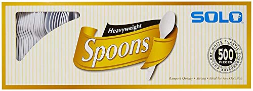 Solo White Heavyweight Spoons - 500 ct