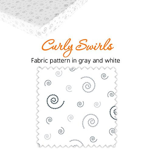 Pack N Play Playard Portable Mini Crib Sheet Set – 2 Pack Jersey Cotton Playpen Fitted Sheets – Grey/White Unisex Bedding for Baby Boy and Baby Girl by Mom's Besty (Image #3)
