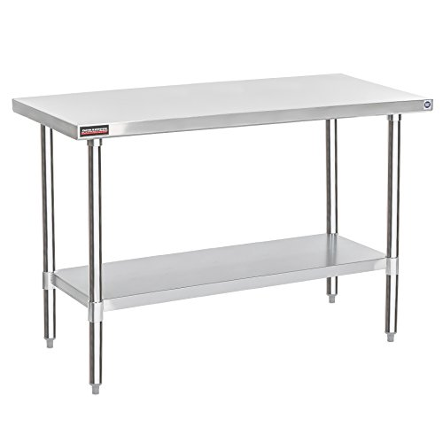"DuraSteel Stainless Steel Work Table 30"" x 60"" x 34"" Height - Food Prep Commercial Grade Worktable - NSF Certified - Fits for use in Restaurant, Business, Warehouse, Home, Kitchen, Garage"