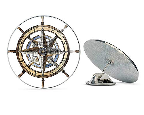 BRK Studio Cool Wooden Ship's Wheel Helm Round Metal 0.75