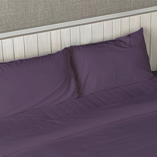 DEEP POCKET 1800 COUNT BAMBOO SERIES 4 PIECE BED SUPER SOFT SHEET SET ALL SIZES (Twin / Twin XL, Purple)