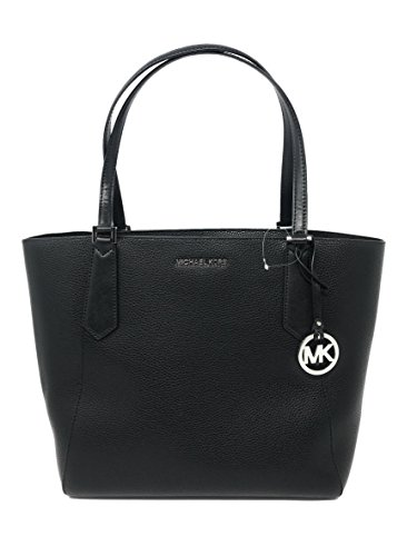 Michael Kors Kimberly LG Bonded Leather Tote Bag in Black ()