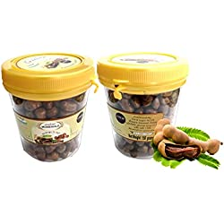 Moniegold Chewy Tamarind Candy Pack of 2 made from fresh sweet & sour tamarind which is chewy and delicious by Thai Tasty.