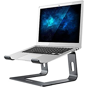 Nulaxy Laptop Stand, Ergonomic Aluminum Laptop Computer Stand, Detachable Laptop Riser Notebook Holder Stand Compatible with MacBook Air Pro, Dell XPS, HP, Lenovo More 10-15.6