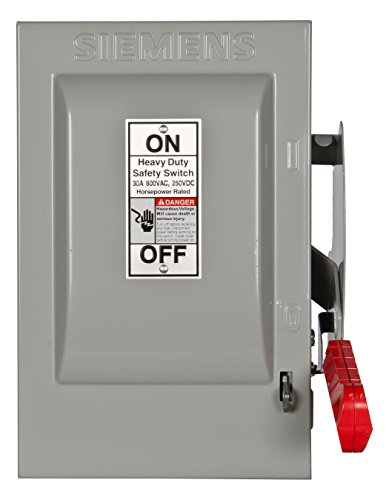600v Safety Switch - Siemens HNF361 30-Amp 3 Pole 600-volt 3 Wire Non-Fused Heavy Duty Safety Switches