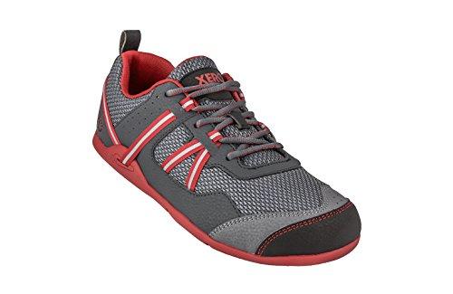 Xero Sko Prio - Minimalistisk Barfodet Sti Og Vej Løbesko - Fitness, Atletisk Nul Dråbe Sneaker - Mænds Trækul Røde
