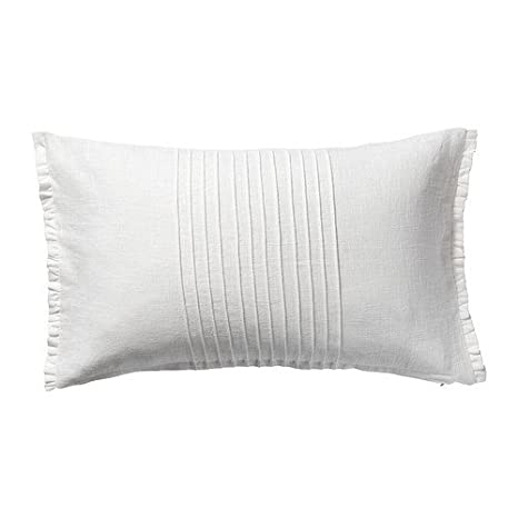 IKEA VITFJARIL - Funda de cojín, blanco - 40 x 65 cm: Amazon ...