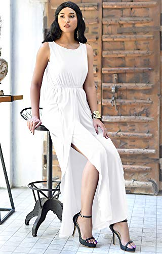 5f2af947549 KOH KOH Womens Sleeveless Cocktail Wide Leg One Piece Jumpsuit ...