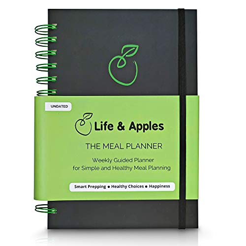 Weekly Meal Planner with Grocery List, Recipe Cards and Trackers - 52 Weeks, Premium Hardcover Spiral Bound Notebook (Best Grocery List For Weight Loss)