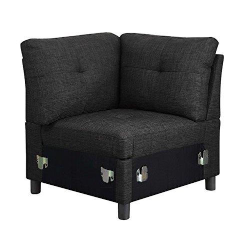 Bliss Brands Modular Sectional Sofa Sets Assemble Living Room Furniture Sofas Loveseat Bundle Set Cushions, Easy to Assemble (Corner)