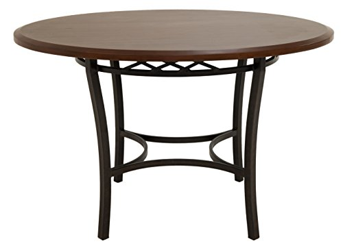 Impacterra AT-510-AUR-495-MON AT-510 Round Dining Table, - Copper Smoke Pastel