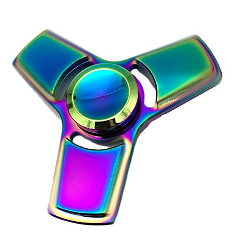 Uspeedy Fidget Spinner Fidget Killing Time Toys for For ADD, ADHD, Anxiety, and Autism Adult and Children (A A 2 Rainbow)