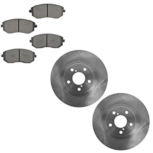 Front Premium Posi Ceramic Disc Brake Pad & Rotor Kit Set for Subaru