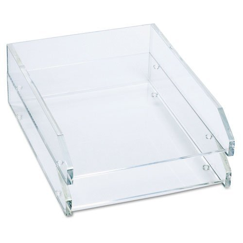Double Letter Tray, Two Tier, Acrylic, Clear (Renewed) ()