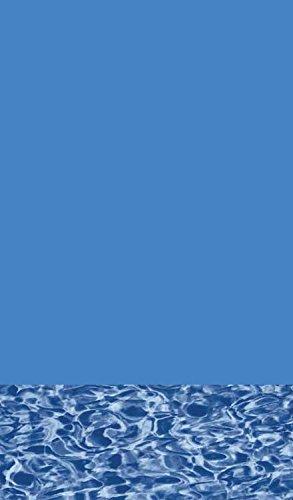 Expandable Swirl Bottom Pool Liner - GLI 15x30ft Oval BLUE WALL SWIRL BOTTOM 20yr WARRANTY Overlap Expandable UP TO 6' depth Swimming Pool Liner 25 GAUGE