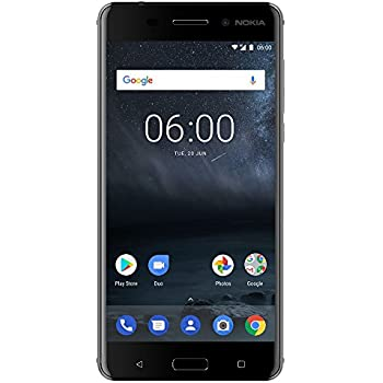 """Nokia 6 (2017) - 32 GB - Unlocked Smartphone (AT&T/T-Mobile) - 5.5"""" Screen - Black"""