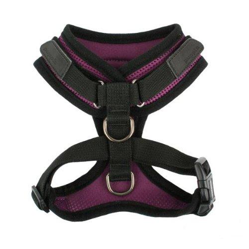 Puppia Superior Dog Harness – Purple – SM (9.5″-11″N x 12.5″x17″G), My Pet Supplies