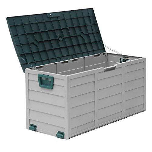 Mcombo Storage Box Outdoor Patio Backyard Garden Tool Box Container 79 Gallons, 7170-ST05
