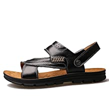 Agowoo Mens Casual Outdoor Beach Walking Sandals