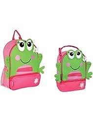 Stephen Joseph SideKicks Backpack and Lunchbox Set (Frog)