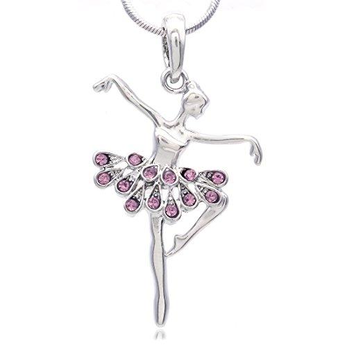 (Soulbreezecollection Dancing Ballerina Dancer Ballet Dance Pendant Necklace Charm (Lavender) )