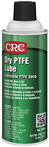 (CRC 03044 Dry PTFE Lubricating Spray, (Net Weight: 10 oz.) 16oz Aerosol)