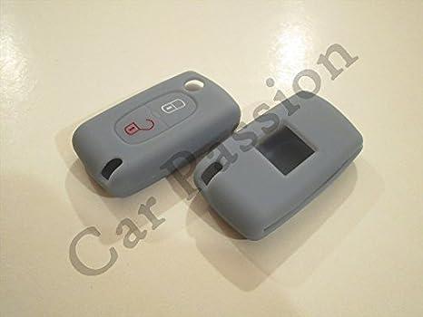 Carcasa para llave mando, 2 teclas, Citroen C1, C2, C3, C4 ...
