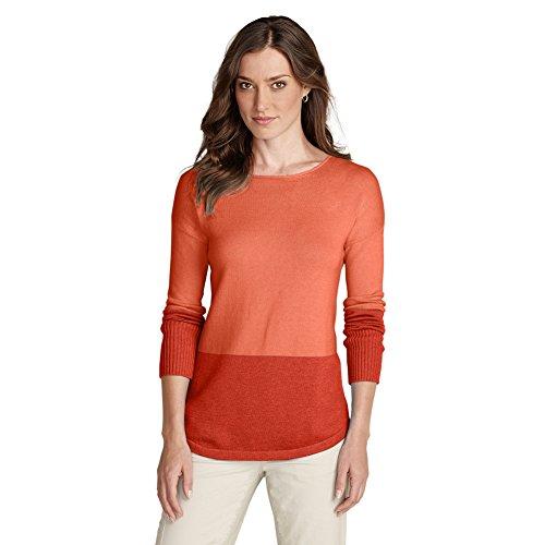 Eddie Bauer Womens Sweatshirt Sweater - Colorblocked, Dusty Coral S