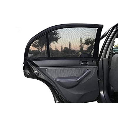 Car Side Window Sun Shade - 4 Pack Universal Fit Mesh for Full UV Protection Fits Most Small and Medium Cars: Baby