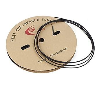 eDealMax 200M Lunghezza 3 millimetri Dia nera Degli strizzacervelli di calore del tubo termorestringenti: Amazon.com: Industrial & Scientific