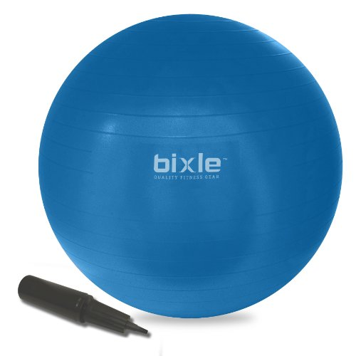 ance Ball Kit Anti Burst Exercise Stability Ball with Pump Blue (75cm) ()