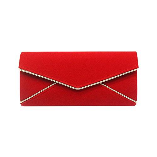 da Clutch Envelope Kigurumi Borsa notte Womens rossa qXgdaxwFC