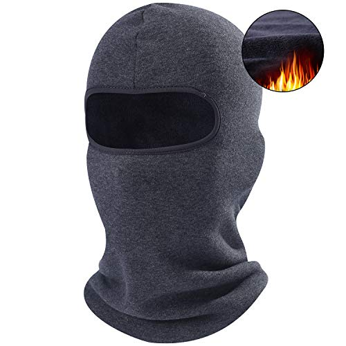 AXBXCX 1 Pack - Balaclava Neck Warmer Windproof Ski Face Mask Winter Motorcycle Tactical Balaclava Hood for Women Men Youth Snowboard Fishing Hat Helmet Liner Mask Gray