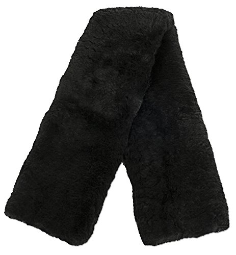 ECP Real Genuine Sheepskin Girth Protection Cover | Helps Prevent Gall Sores Chafes | 32 Inches Black