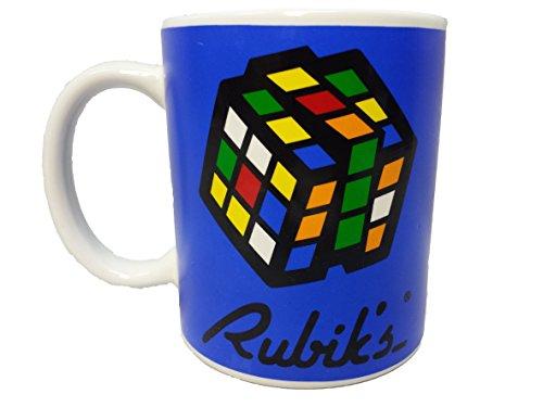 Official Rubik's Cube Ceramic Coffee Mug Blue
