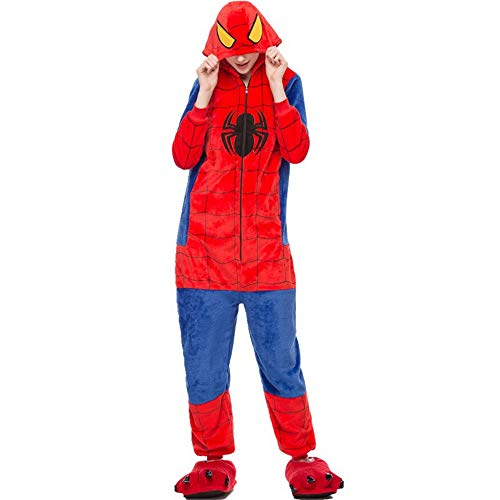 Unisex Home Cartoon Animal Spider-Man Siamese Pajamas Performance Costume(Black-L) for $<!--$37.99-->