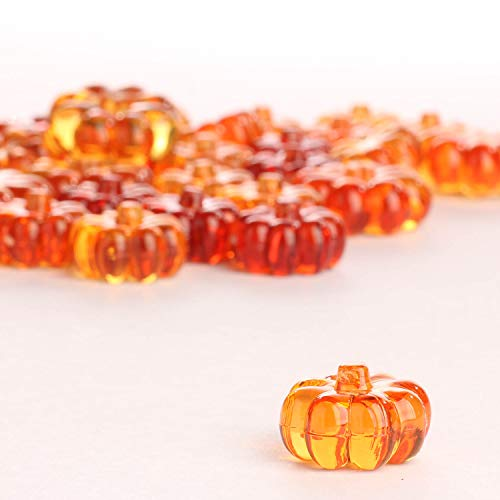Darice Bulk Buy DIY Crafts Diamond Gems Acrylic Pumpkins Yellow and Orange 7 oz. (6-Pack) 1151-60