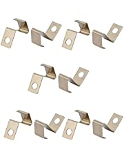 uxcell 10Pcs Silver Tone Metal SMT Mounted AAA Battery Positive Negative Contact Plate