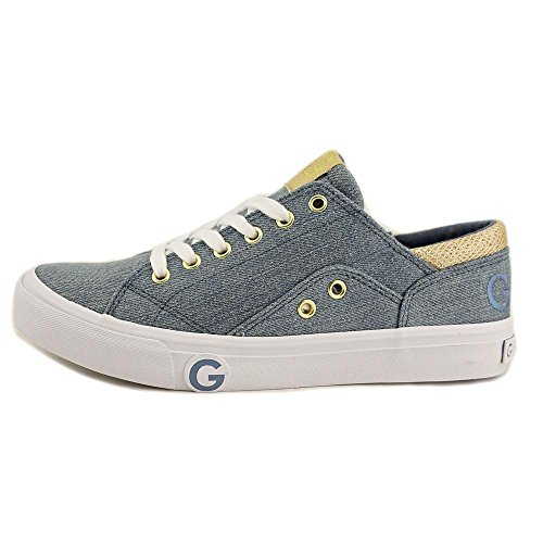 G Door Guess Vrouwen Chai3 Lage Top Lace Up Fashion Sneakers Medium Blauwe Stof