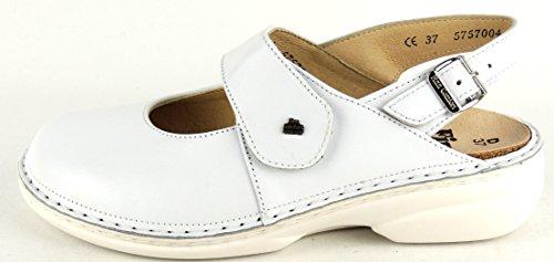 Finn Comfort Donne Intasano Con Cinturino Tallone Dexter White Velcro Bianco
