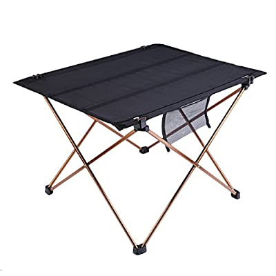 OUTAD Ultralight and Portable Folding Camping Table (Weight: 1.5lb; Unfolded size: 22 x 16.5 x 14.6 inches)