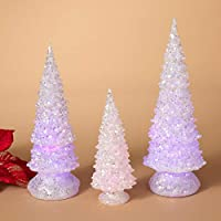 GIL 2275280 S/3 B/O Lighted Acrylic Glass Christmas, 4.5InL x 4.5InW x 12.5InH, Multicolor