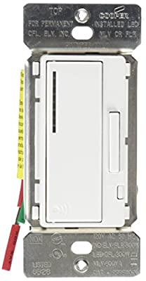 eaton's wiring devices rf9540-ndw aspire 600w all load rf smart dimmer  system master, white - - amazon com