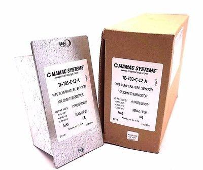 NEW MAMAC SYSTEMS TE-703-C-12-A TEMPERATURE SENSOR TE703C12A