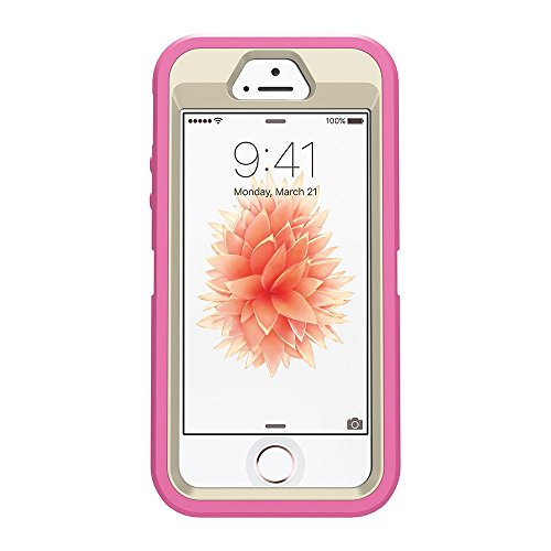 OtterBox DEFENDER SERIES Case for iPhone 5/5s/SE ONLY - BERRIES N CREAM (SAND/HIBISCUS PINK) - Bulk Packaging (Case Only, No Holster)